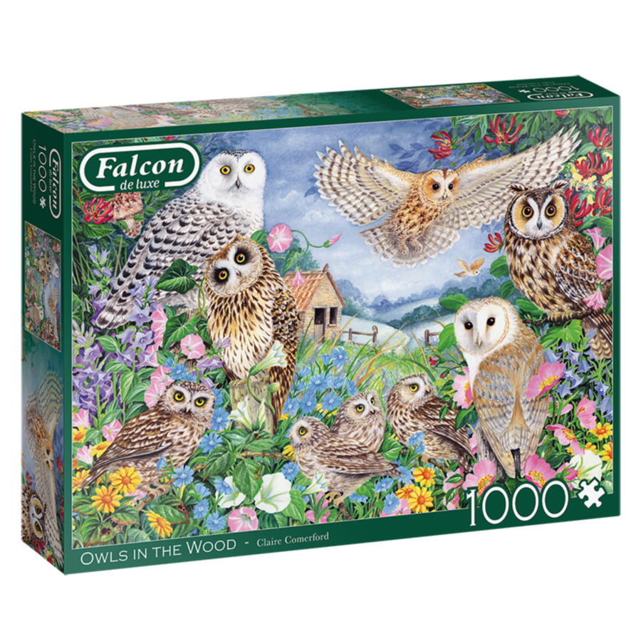 Uilen in het bos - puzzel van 1000 stukjes-1