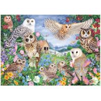thumb-Owls in the Wood - puzzle of 1000 pieces-2
