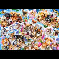 thumb-Collage van dieren selfies  - puzzel van 260 stukjes-1