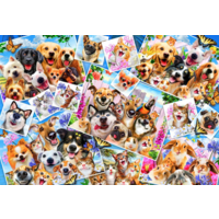 thumb-Selfie Pet Collage - puzzle de 260 pièces-1