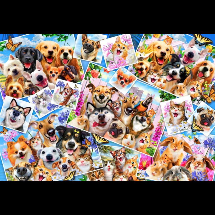 Collage van dieren selfies  - puzzel van 260 stukjes-1