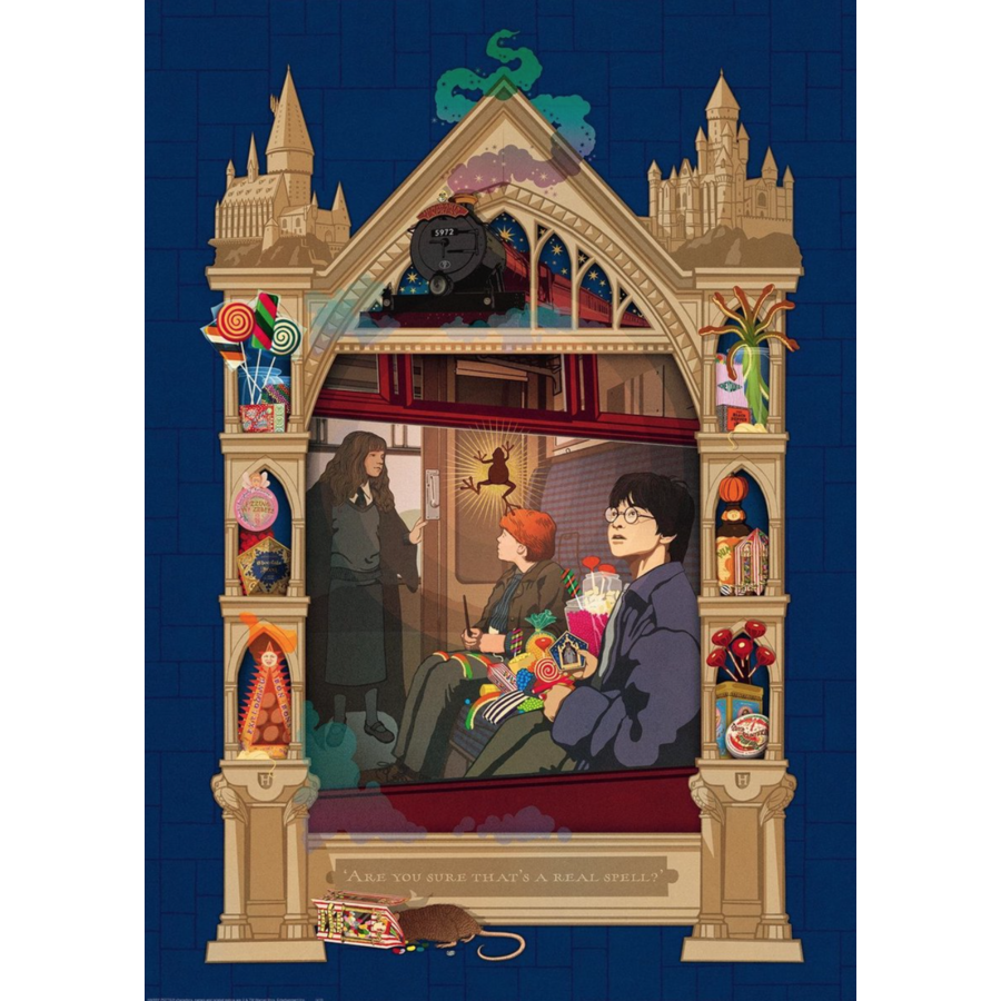 Harry Potter - Weg naar Hogwarts - puzzel van  1000 stukjes-2