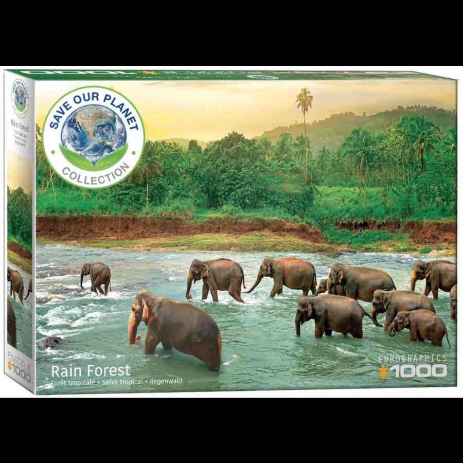 La forêt tropicale - puzzle de 1000 pièces-1