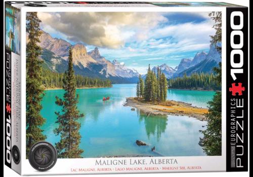 Eurographics Puzzles Maligne Lake Alberta - Canada  - 1000 stukjes