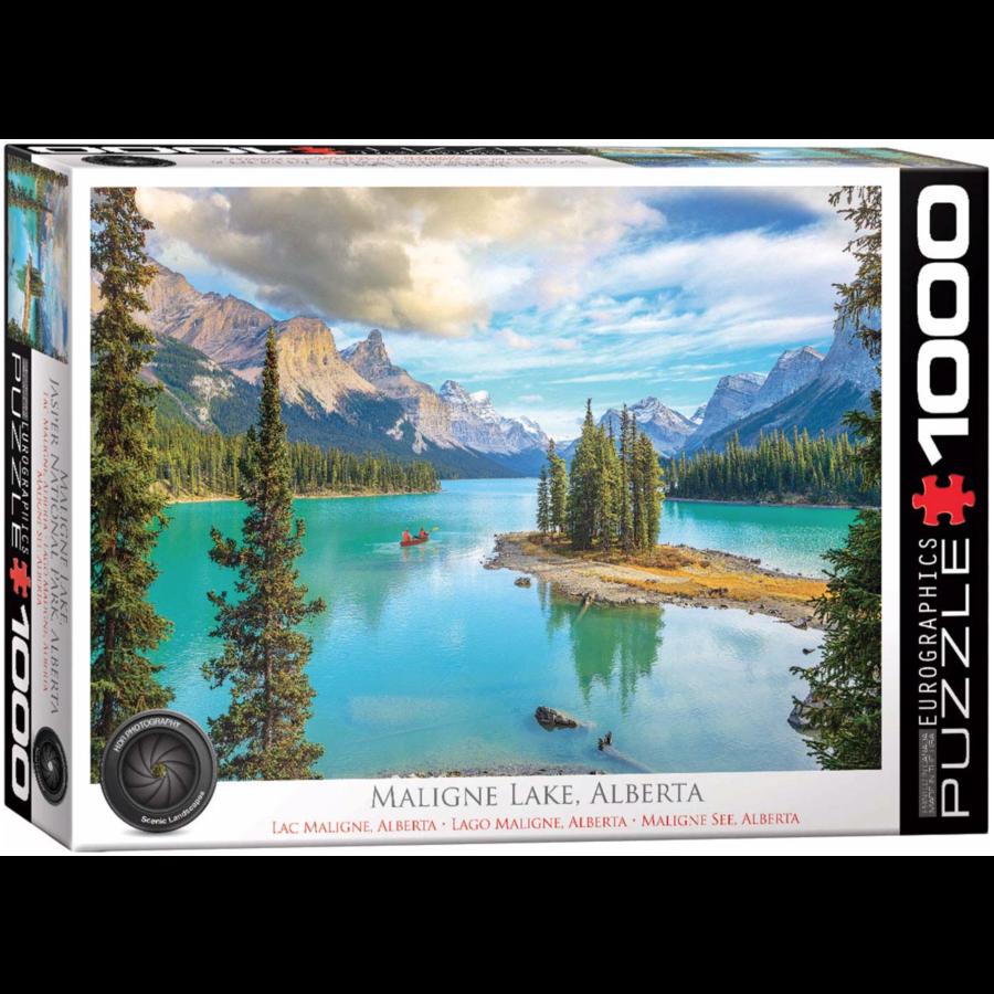 Maligne Lake Alberta - Canada - puzzel van 1000 stukjes-1