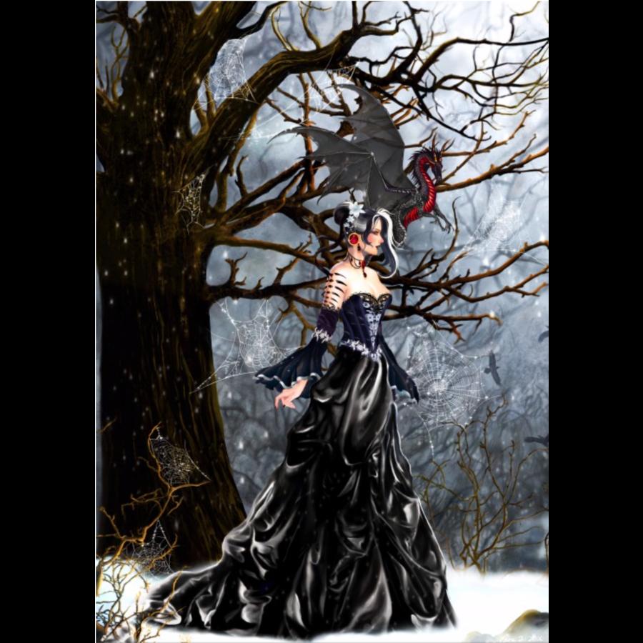 Queen of Shadows - puzzle de 1000 pièces-1