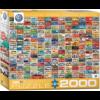 Eurographics Puzzles Volkswagen Groovy Bus - Collage - puzzel van 2000 stukjes
