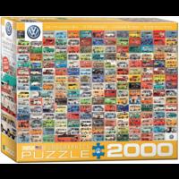 thumb-Volkswagen Groovy Bus - Collage - puzzel van 2000 stukjes-1