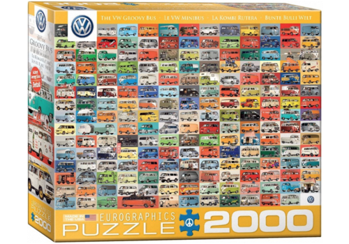 Eurographics Puzzles Volkswagen Groovy Bus - Collage - 2000 pieces