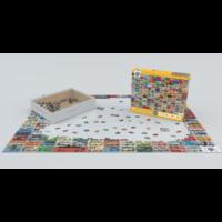 thumb-Volkswagen Groovy Bus - Collage - puzzel van 2000 stukjes-3