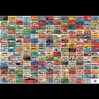 thumb-Volkswagen Groovy Bus - Collage - puzzel van 2000 stukjes-2