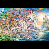 thumb-Eenhoorn fantasie - puzzel van 2000 stukjes-2