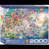 Eurographics Puzzles Eenhoorn fantasie - puzzel van 2000 stukjes