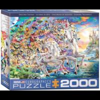 thumb-Eenhoorn fantasie - puzzel van 2000 stukjes-1