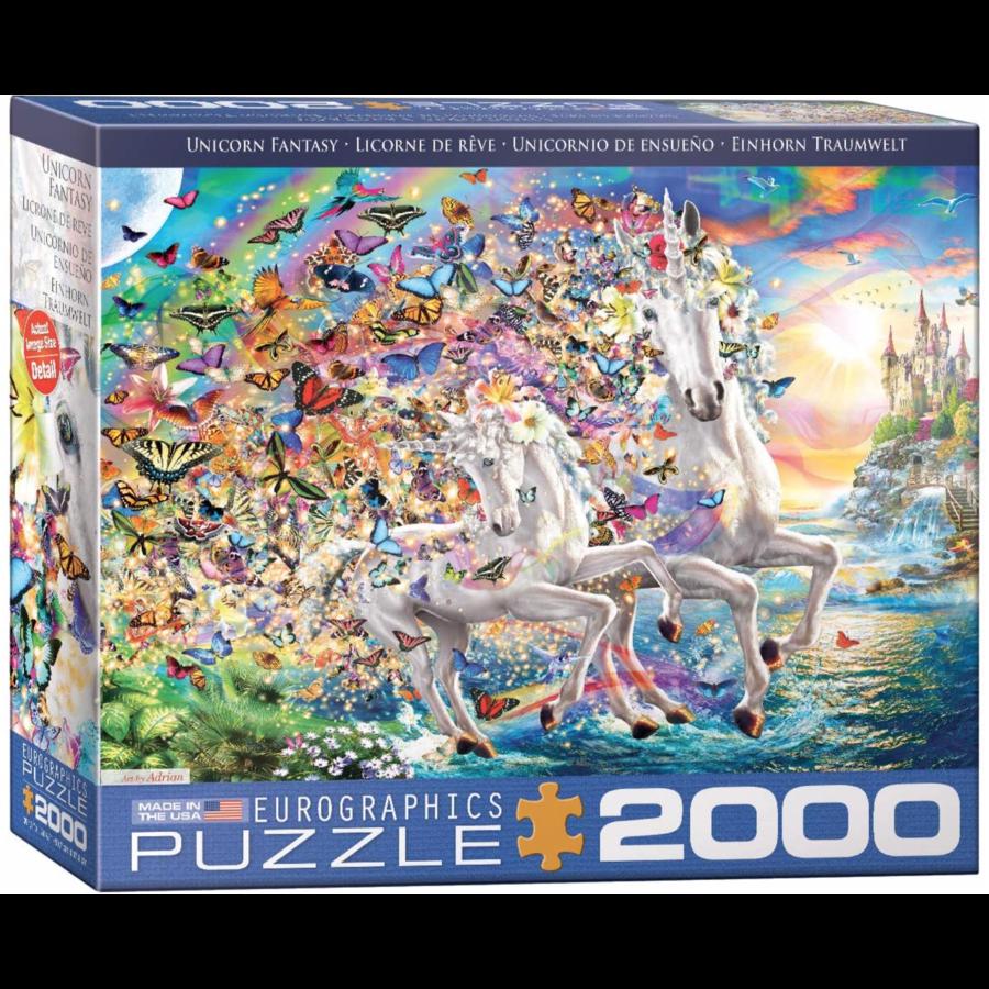 Eenhoorn fantasie - puzzel van 2000 stukjes-1
