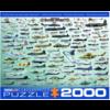 Eurographics Puzzles Militaire Luchtvaart - Collage - puzzel van 2000 stukjes