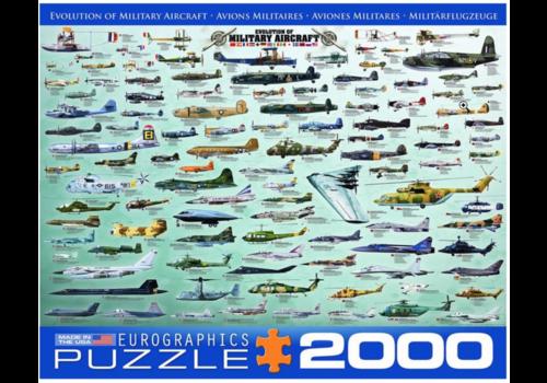 Eurographics Puzzles Avions Militaires - Collage - 2000 pièces