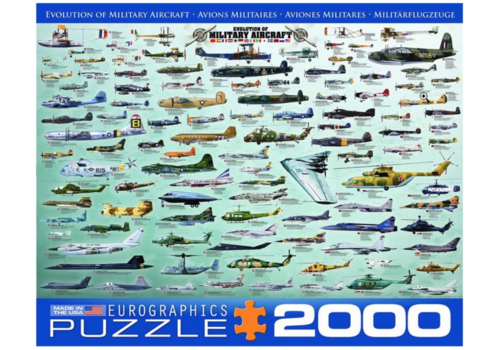 Eurographics Puzzles Military Aircraft - Collage - 2000 pieces