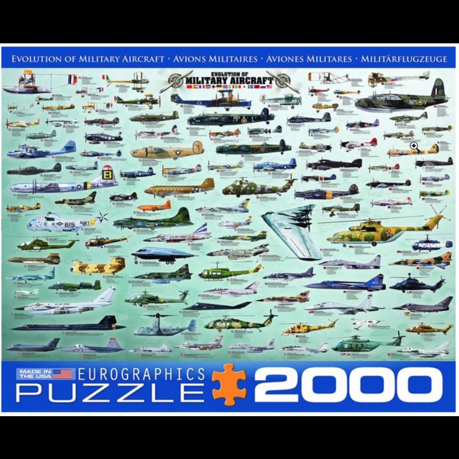 Militaire Luchtvaart - Collage - puzzel van 2000 stukjes-1