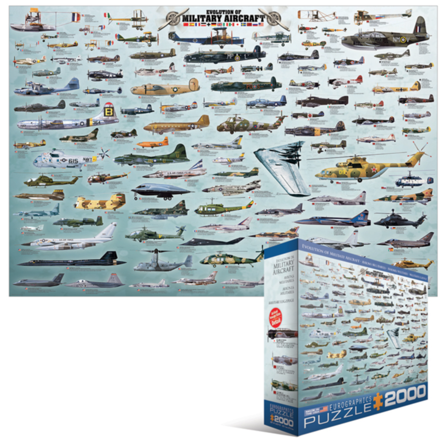Militaire Luchtvaart - Collage - puzzel van 2000 stukjes-2