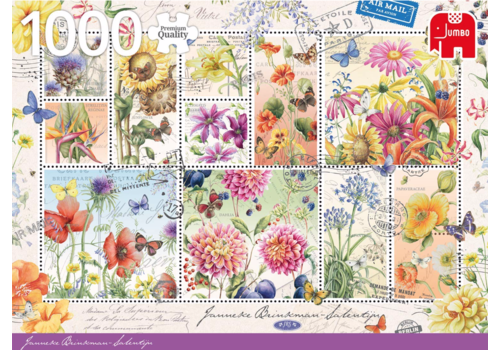 Jumbo Bloemen postzegels - 1000 stukjes