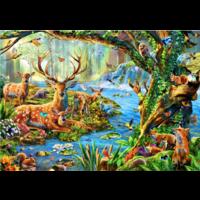 thumb-Het leven in het bos - puzzel van 1500 stukjes-1