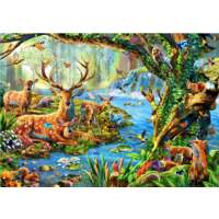 thumb-La vie en forêt - puzzle de 1500 pièces-1