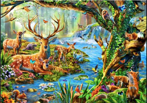 Bluebird Puzzle Het leven in het bos - 1500 stukjes