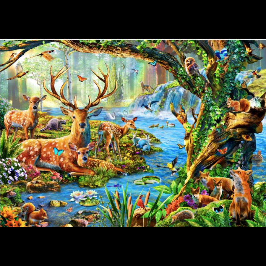 Het leven in het bos - puzzel van 1500 stukjes-1