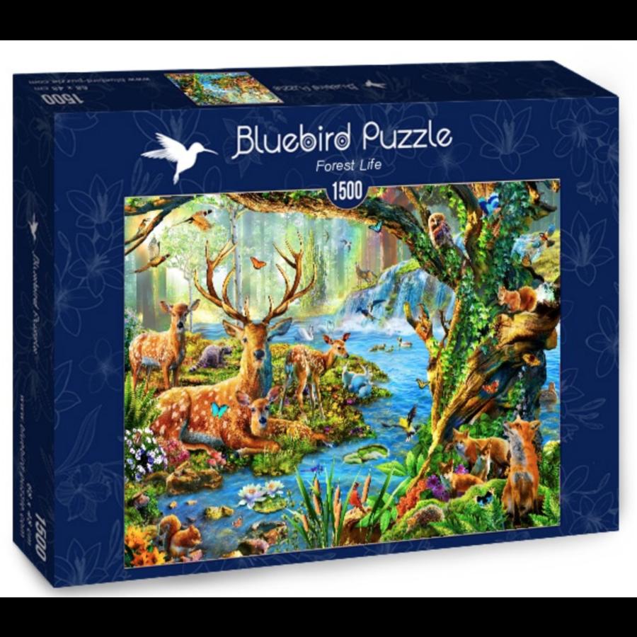 Het leven in het bos - puzzel van 1500 stukjes-2