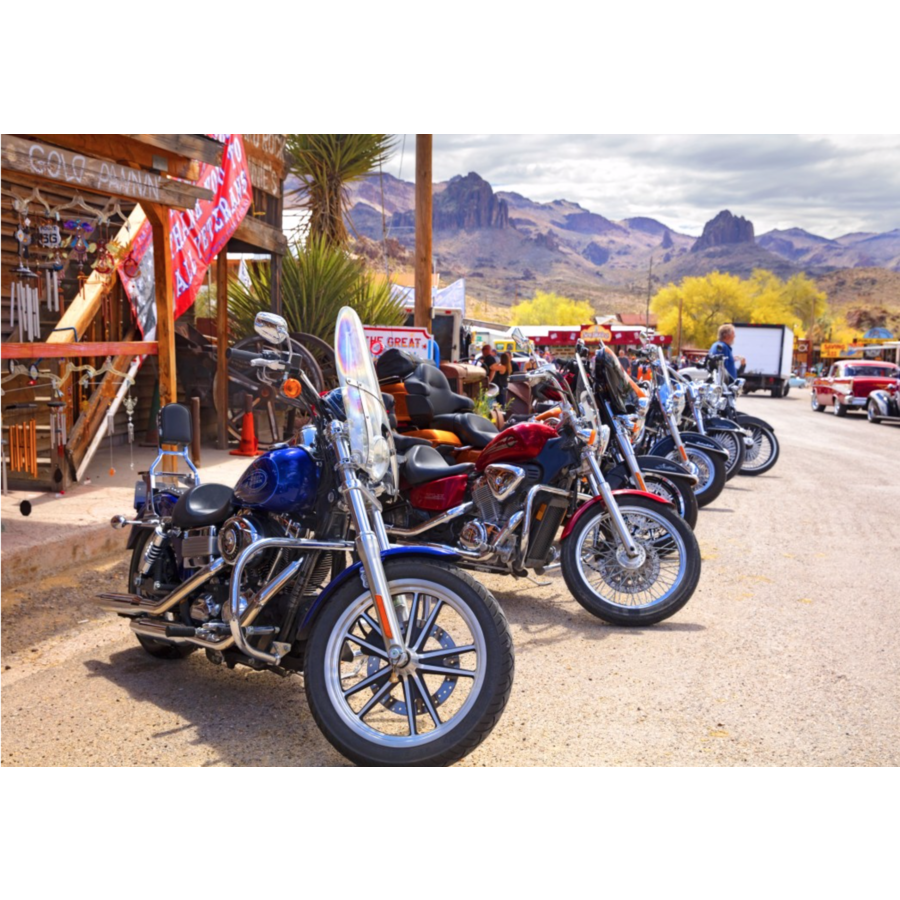 Route 66 - Motorcycles - puzzel van 1000 stukjes-1