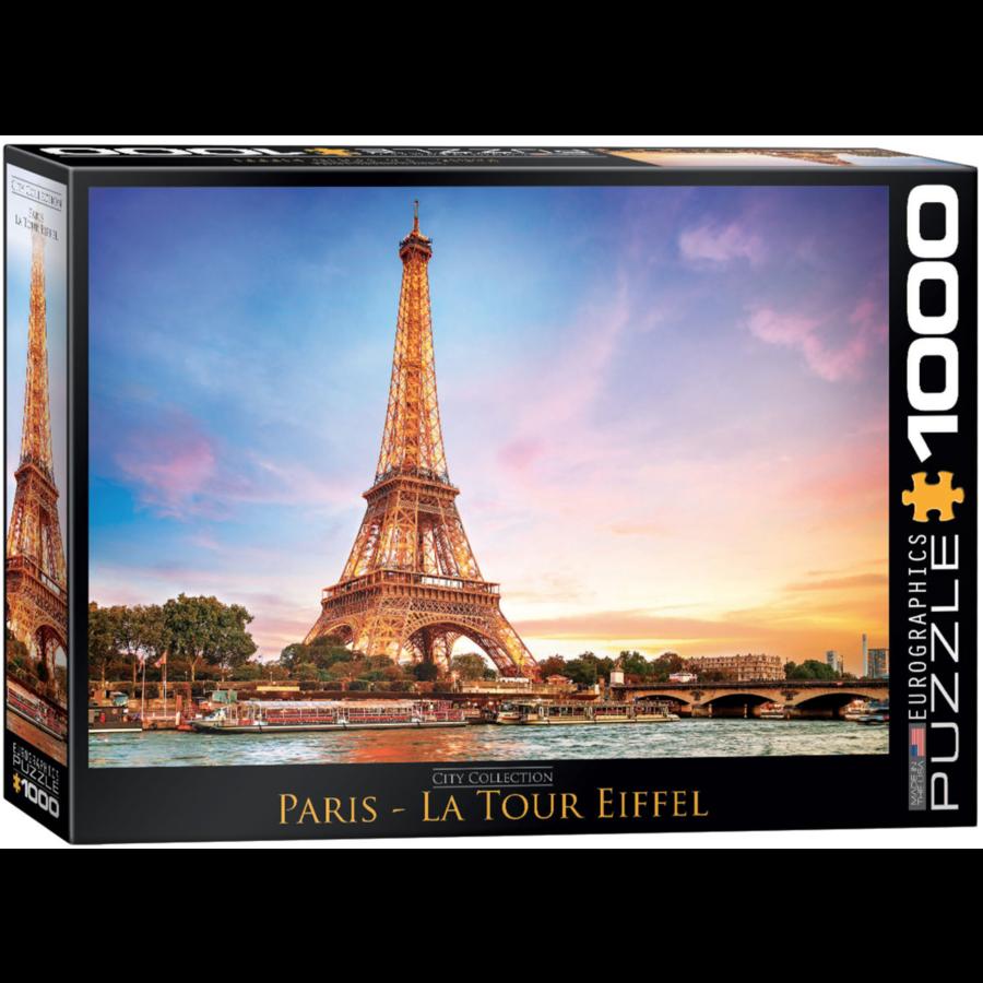 Paris - Eiffel Tower - 1000 pieces - jigsaw puzzle-1