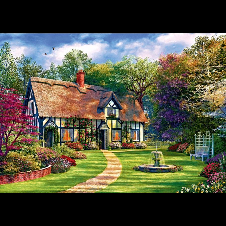 De verborgen cottage - puzzel van 1000 stukjes-1