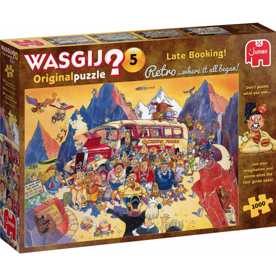 Wasgij Retro Original 5 - Late Booking - 1000 pièces-1