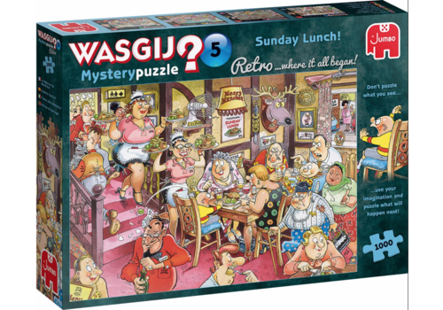 Jumbo Wasgij Retro Mystery 5 - Sunday Lunch! - 1000 pièces