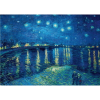 thumb-Vincent Van Gogh - Sterrennacht over de Rhone - 1000 stukjes-1