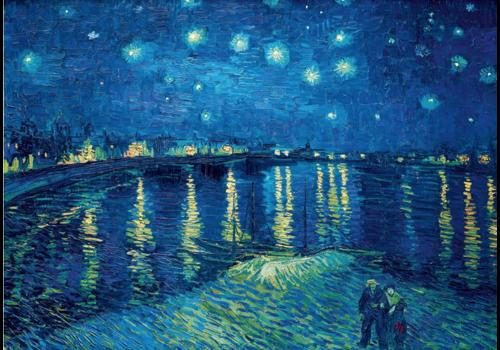 Bluebird Puzzle Vincent Van Gogh - Nuit étoilée sur le Rhône - 1000 pieces