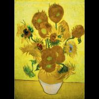 thumb-Vincent Van Gogh - Zonnebloemen - 1000 stukjes-1