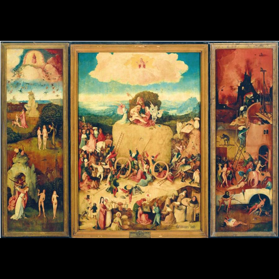 Jheronimus Bosch - De hooiwagen drieluik - 1000 stukjes-1