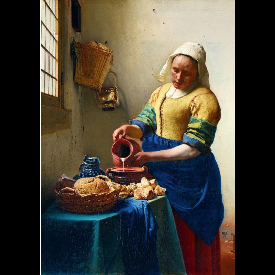 Vermeer - Het melkmeisje - 1000 stukjes-1