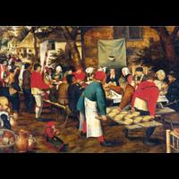 thumb-Pieter Bruegel - De boerenbruiloft - 1000 stukjes-1