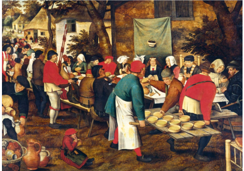 Bluebird Puzzle Pieter Bruegel - De boerenbruiloft- 1000 stukjes
