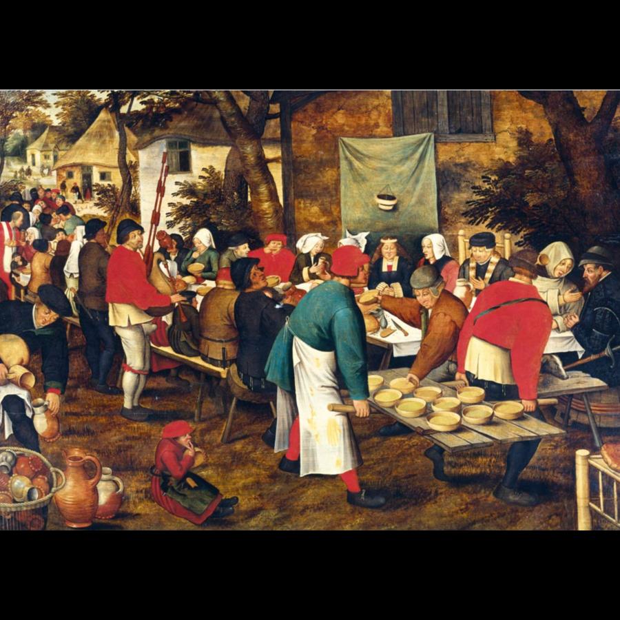 Pieter Bruegel - De boerenbruiloft - 1000 stukjes-1