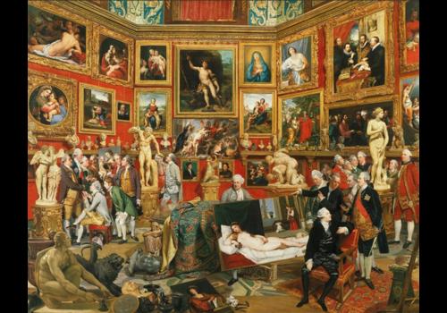 Piatnik Tribuna van de  Uffizi - Zoffany  - 1000 stukjes