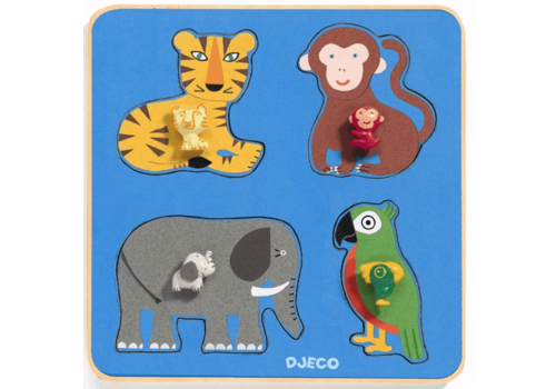 Djeco De Jungle Familie - 4 stukjes