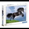 Clementoni Het  zwarte paard puzzel van 500 stukjes