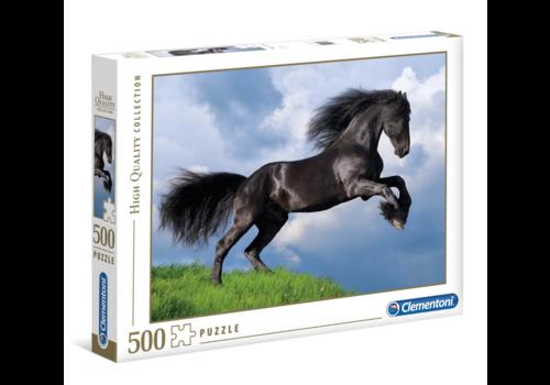Clementoni Het zwarte paard - 500 stukjes