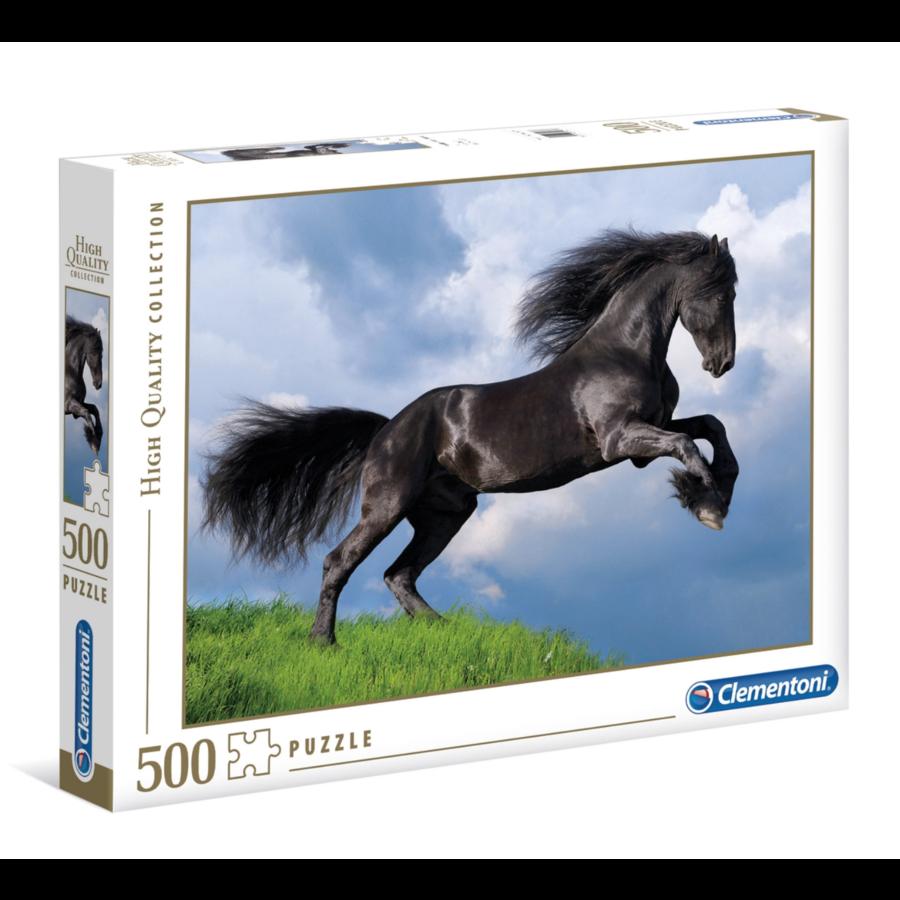 Het  zwarte paard puzzel van 500 stukjes-1