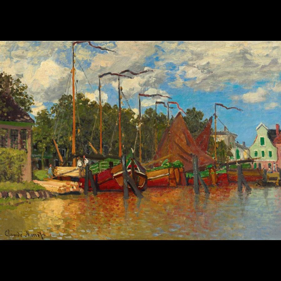 Claude Monet - Boten in Zaandam - 1000 stukjes-1
