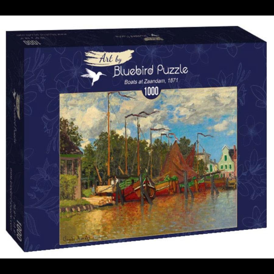 Claude Monet - Boten in Zaandam - 1000 stukjes-2